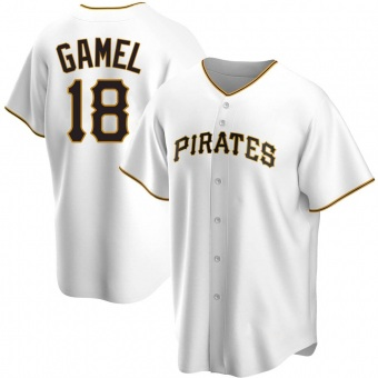 Youth Ben Gamel Pittsburgh White Game Home Replica Baseball Jersey (Unsigned No Brands/Logos)
