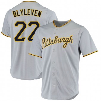 Youth Bert Blyleven Pittsburgh Gray Replica Road Baseball Jersey (Unsigned No Brands/Logos)