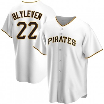 Youth Bert Blyleven Pittsburgh White Replica Home Baseball Jersey (Unsigned No Brands/Logos)