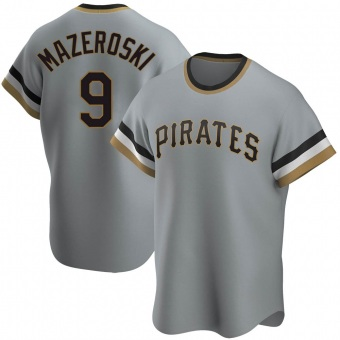 Youth Bill Mazeroski Pittsburgh Gray Replica Road Cooperstown Collection Baseball Jersey (Unsigned No Brands/Logos)