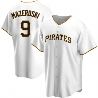 Youth Bill Mazeroski Pittsburgh White Replica Home Baseball Jersey (Unsigned No Brands/Logos)