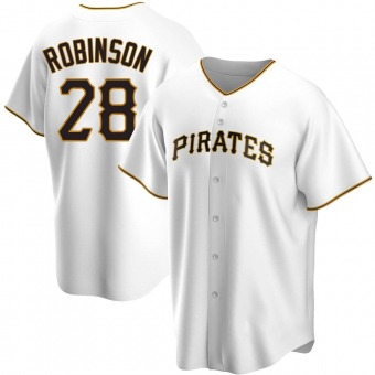 Youth Bill Robinson Pittsburgh White Replica Home Baseball Jersey (Unsigned No Brands/Logos)