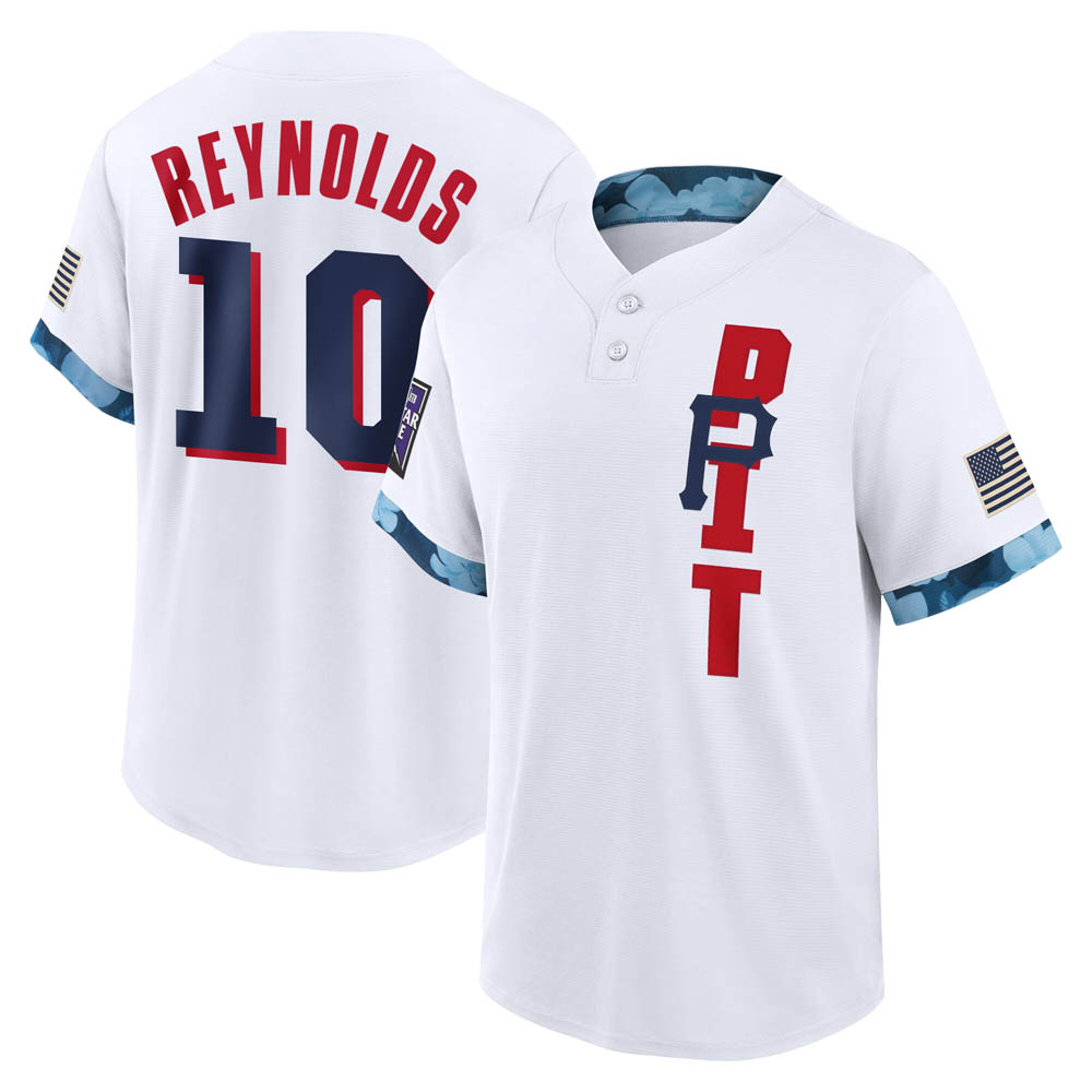 Youth Bryan Reynolds Pittsburgh White Game 2021 All-Star Replica Baseball Jersey (Unsigned No Brands/Logos)