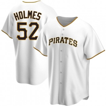 Youth Clay Holmes Pittsburgh White Replica Home Baseball Jersey (Unsigned No Brands/Logos)