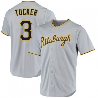 Youth Cole Tucker Pittsburgh Gray Replica Road Baseball Jersey (Unsigned No Brands/Logos)