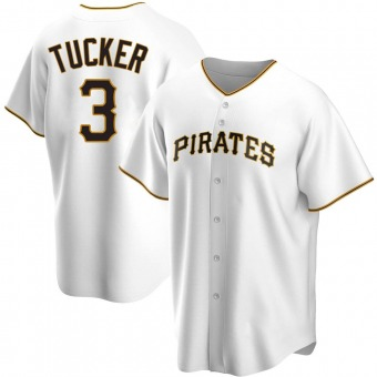 Youth Cole Tucker Pittsburgh White Replica Home Baseball Jersey (Unsigned No Brands/Logos)