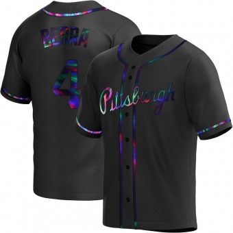 Youth Dale Berra Pittsburgh Black Holographic Replica Alternate Baseball Jersey (Unsigned No Brands/Logos)