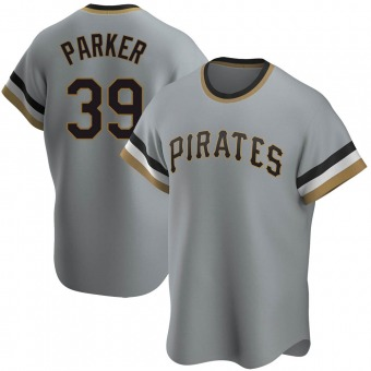 Youth Dave Parker Pittsburgh Gray Replica Road Cooperstown Collection Baseball Jersey (Unsigned No Brands/Logos)