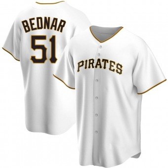 Youth David Bednar Pittsburgh White Replica Home Baseball Jersey (Unsigned No Brands/Logos)