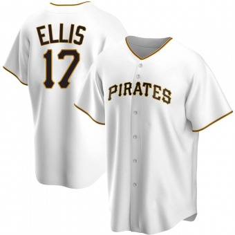 Youth Dock Ellis Pittsburgh White Replica Home Baseball Jersey (Unsigned No Brands/Logos)