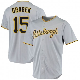 Youth Doug Drabek Pittsburgh Gray Replica Road Baseball Jersey (Unsigned No Brands/Logos)