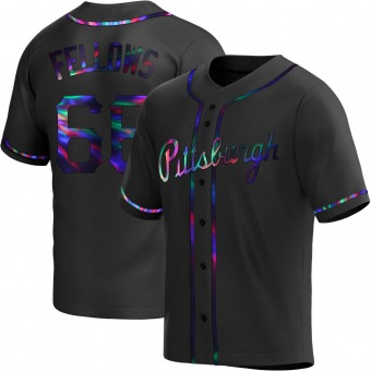 Youth Drake Fellows Pittsburgh Black Holographic Replica Alternate Baseball Jersey (Unsigned No Brands/Logos)