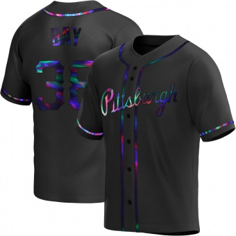 Youth Jason Bay Pittsburgh Black Holographic Replica Alternate Baseball Jersey (Unsigned No Brands/Logos)
