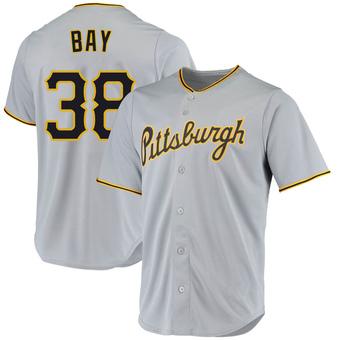 Youth Jason Bay Pittsburgh Gray Replica Road Baseball Jersey (Unsigned No Brands/Logos)