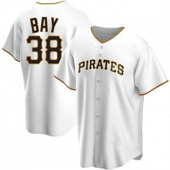 Youth Jason Bay Pittsburgh White Replica Home Baseball Jersey (Unsigned No Brands/Logos)