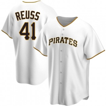 Youth Jerry Reuss Pittsburgh White Replica Home Baseball Jersey (Unsigned No Brands/Logos)