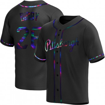 Youth Jim Bibby Pittsburgh Black Holographic Replica Alternate Baseball Jersey (Unsigned No Brands/Logos)