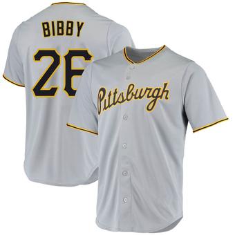 Youth Jim Bibby Pittsburgh Gray Replica Road Baseball Jersey (Unsigned No Brands/Logos)