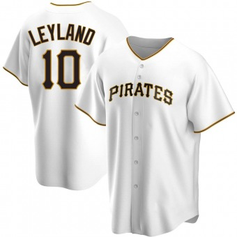 Youth Jim Leyland Pittsburgh White Replica Home Baseball Jersey (Unsigned No Brands/Logos)