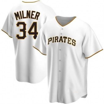 Youth John Milner Pittsburgh White Replica Home Baseball Jersey (Unsigned No Brands/Logos)