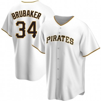 Youth JT Brubaker Pittsburgh White Replica Home Baseball Jersey (Unsigned No Brands/Logos)