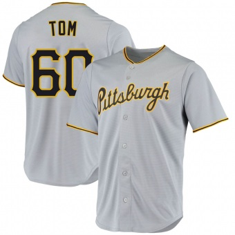 Youth Ka'ai Tom Pittsburgh Gray Replica Road Baseball Jersey (Unsigned No Brands/Logos)