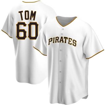 Youth Ka'ai Tom Pittsburgh White Replica Home Baseball Jersey (Unsigned No Brands/Logos)