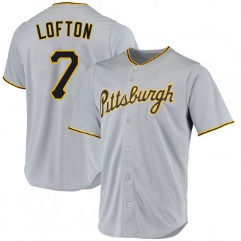 Youth Kenny Lofton Pittsburgh Gray Replica Road Baseball Jersey (Unsigned No Brands/Logos)