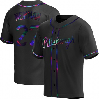Youth Kevin Newman Pittsburgh Black Holographic Replica Alternate Baseball Jersey (Unsigned No Brands/Logos)