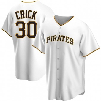 Youth Kyle Crick Pittsburgh White Replica Home Baseball Jersey (Unsigned No Brands/Logos)