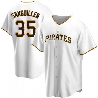 Youth Manny Sanguillen Pittsburgh White Replica Home Baseball Jersey (Unsigned No Brands/Logos)