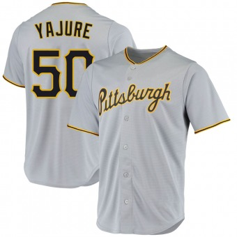 Youth Miguel Yajure Pittsburgh Gray Replica Road Baseball Jersey (Unsigned No Brands/Logos)
