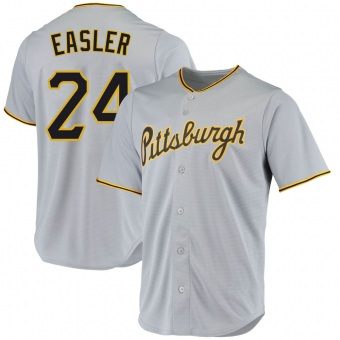 Youth Mike Easler Pittsburgh Gray Replica Road Baseball Jersey (Unsigned No Brands/Logos)