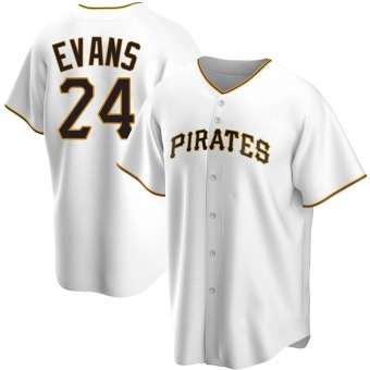 Youth Phillip Evans Pittsburgh White Replica Home Baseball Jersey (Unsigned No Brands/Logos)
