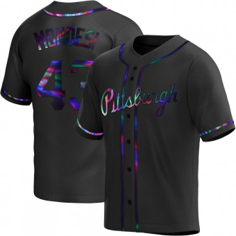 Youth Raul Mondesi Pittsburgh Black Holographic Replica Alternate Baseball Jersey (Unsigned No Brands/Logos)