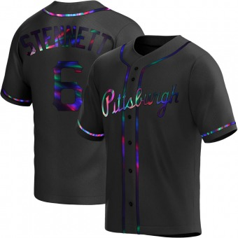 Youth Rennie Stennett Pittsburgh Black Holographic Replica Alternate Baseball Jersey (Unsigned No Brands/Logos)