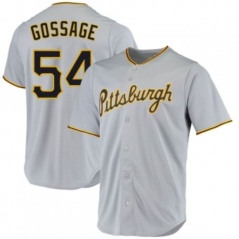 Youth Rich Gossage Pittsburgh Gray Replica Road Baseball Jersey (Unsigned No Brands/Logos)