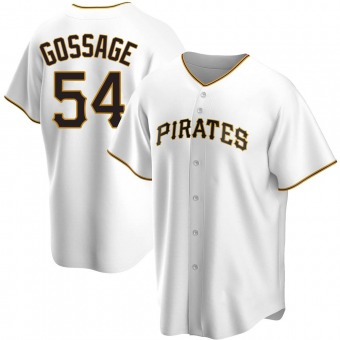 Youth Rich Gossage Pittsburgh White Replica Home Baseball Jersey (Unsigned No Brands/Logos)