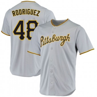 Youth Richard Rodriguez Pittsburgh Gray Replica Road Baseball Jersey (Unsigned No Brands/Logos)