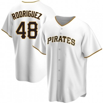 Youth Richard Rodriguez Pittsburgh White Replica Home Baseball Jersey (Unsigned No Brands/Logos)