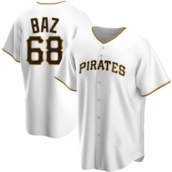 Youth Shane Baz Pittsburgh White Replica Home Baseball Jersey (Unsigned No Brands/Logos)