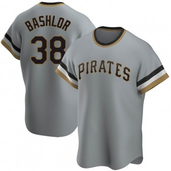 Youth Tyler Bashlor Pittsburgh Gray Replica Road Cooperstown Collection Baseball Jersey (Unsigned No Brands/Logos)