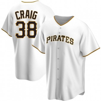 Youth Will Craig Pittsburgh White Replica Home Baseball Jersey (Unsigned No Brands/Logos)
